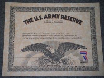 US Army Sale | Urkunde US ARMY Ehrenhafte Entlassung | online kaufen