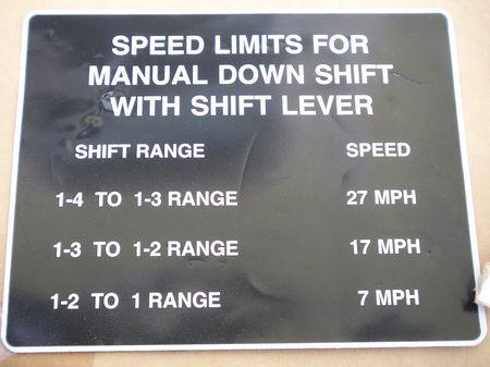 Aufkleber Speed Downshift, M113
