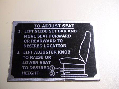 Aufkleber HMMWV, neuer Sitz