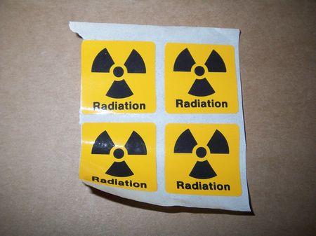 Aufkleber: Radiation / Strahlung