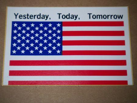 Aufkleber: US Flagge