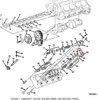 GM #14042575 Rotor engine Poppet Set 8 stk. CUCV