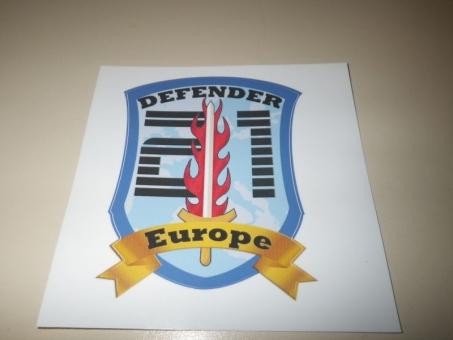 Aufkleber DEFENDER 21  Europe,   Exercise