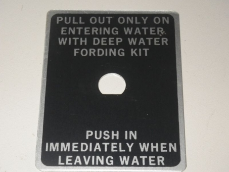 Plate Deep Water Fording Kit M151 Ford MUTT
