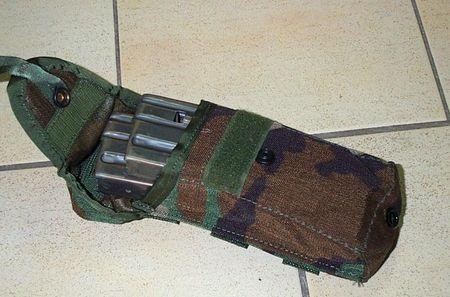 MOLLE M16 Magazintasche Woodland Neu