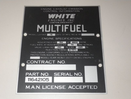 Datplate Multifuel LDT465 Motor WHITE