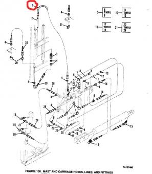Hydraulik Schlauch Geländestapler Case M4K US ARMY