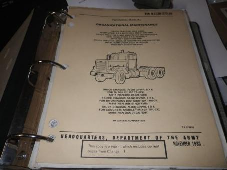 TM 9-2320-273-20 Technical Manual M915 Series Truck