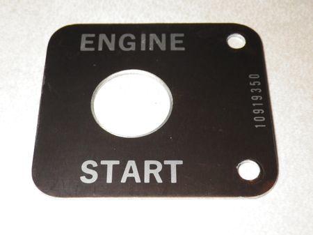 """Hinweisschild """"ENGINE START"""", Stromaggregat  US ARMY"""