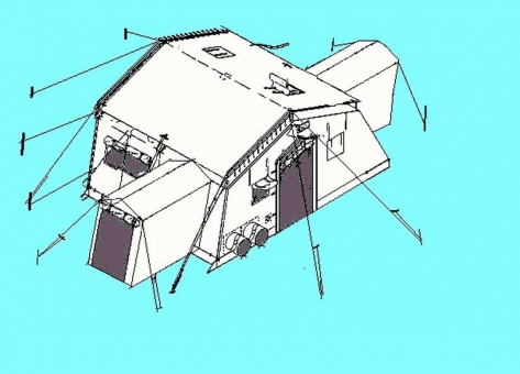 Tent Extendable TEMPER -Type VII, US ARMY