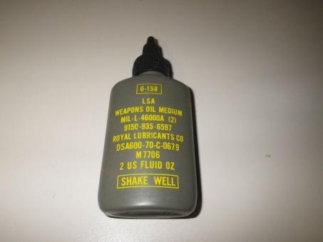 US ARMY Waffenölflasche 1970 Vietnamtime DEKO