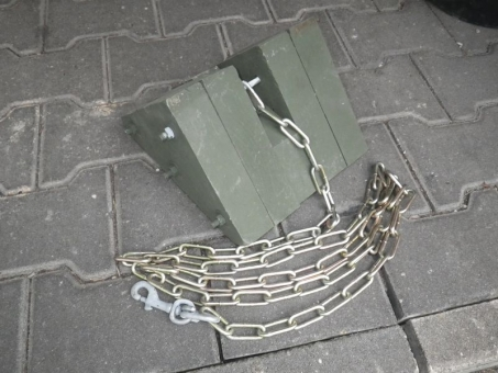 Unterlegkeil Holz oliv US Army Radfahrzeuge U