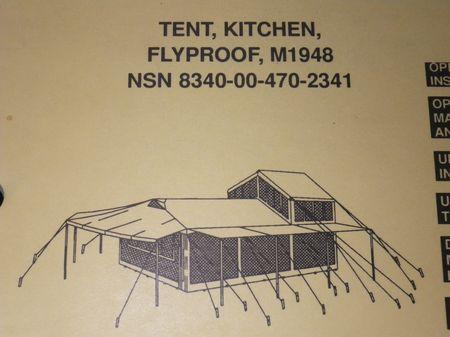 Reissverschluss US ARMY Zelt M1948 Tent Kitchen + Schlafsack US